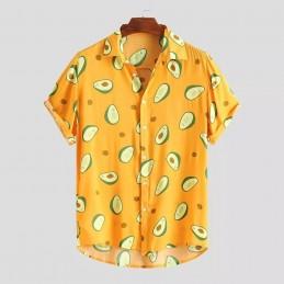 "Chemise Hawaï Motif ""Avocat"""