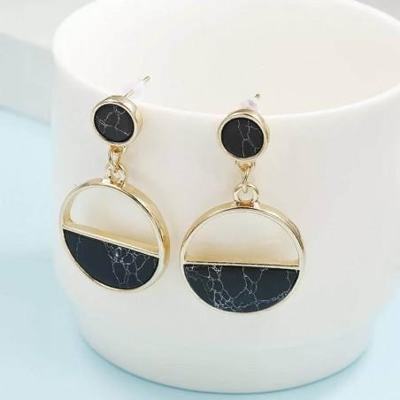 Boucles d'oreille - Pendentifs Marbres Noirs