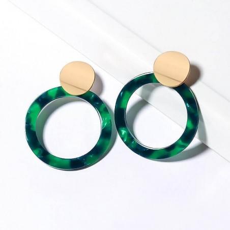 Boucles d'oreille XXL Acrylique Coloré