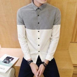 Chemise gris blanc