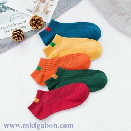 Lot de 5 chaussettes imprimés en coton