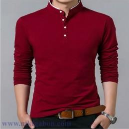 Poloshirt à manches longues