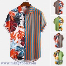 """Chemise """"Hawaï"""" - Motif à''..."""