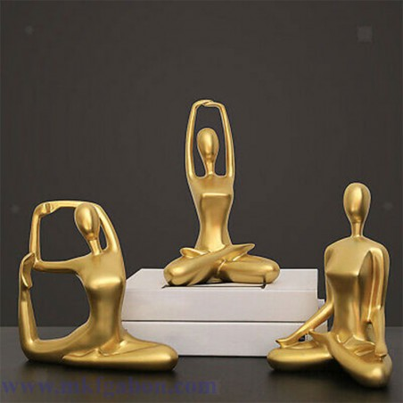 Sculpture de statue de Yoga en Résine