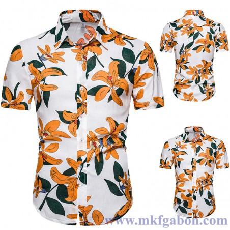 Chemise''' Hawaï'' - Imprimé à Fleurs