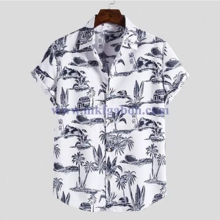 Chemise ''Hawaï'' imprimé Palmier