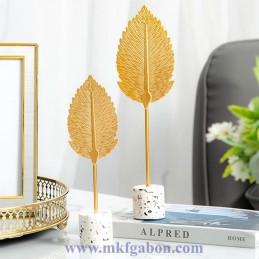 Sculpture de feuilles...